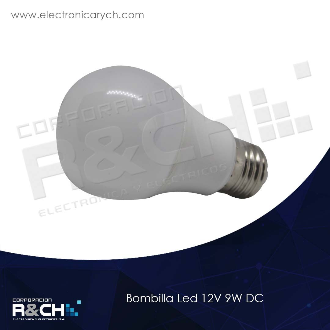 60-ENLED12V-9W bombilla Led 12V 9W DC