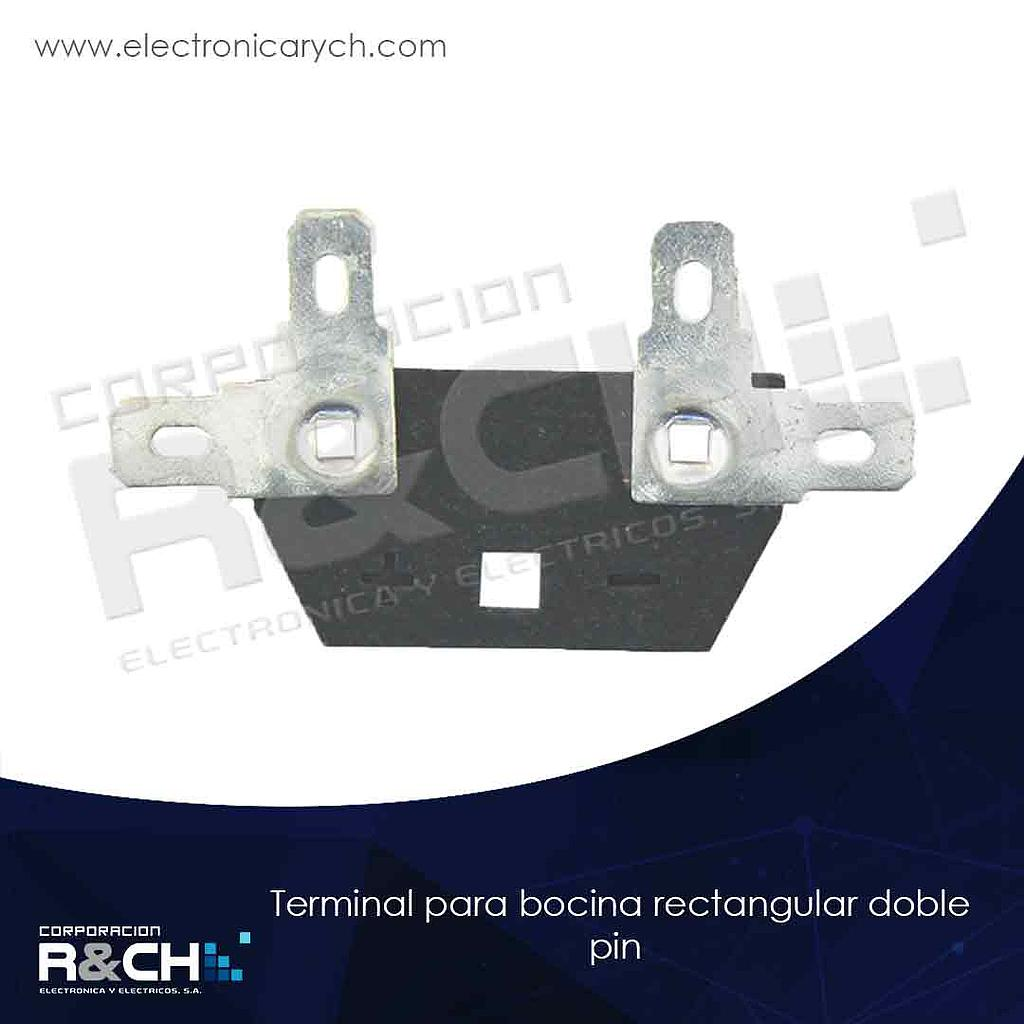 21-243 terminal para bocina rectangular doble pin